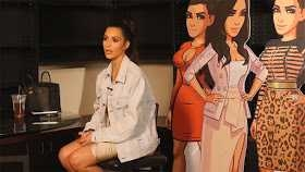 Kim Kardashian shows up again in new behind-the-scenes video for her mobile game